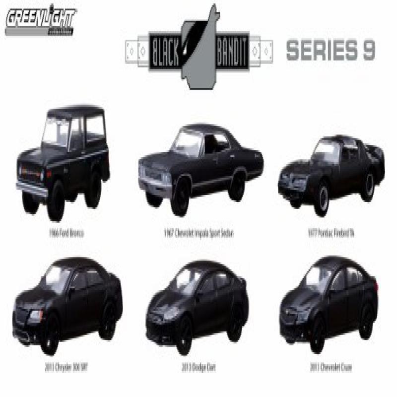 Hot Wheels Set of 6 : GreenLight 1:64 Scale Black Bandit ...