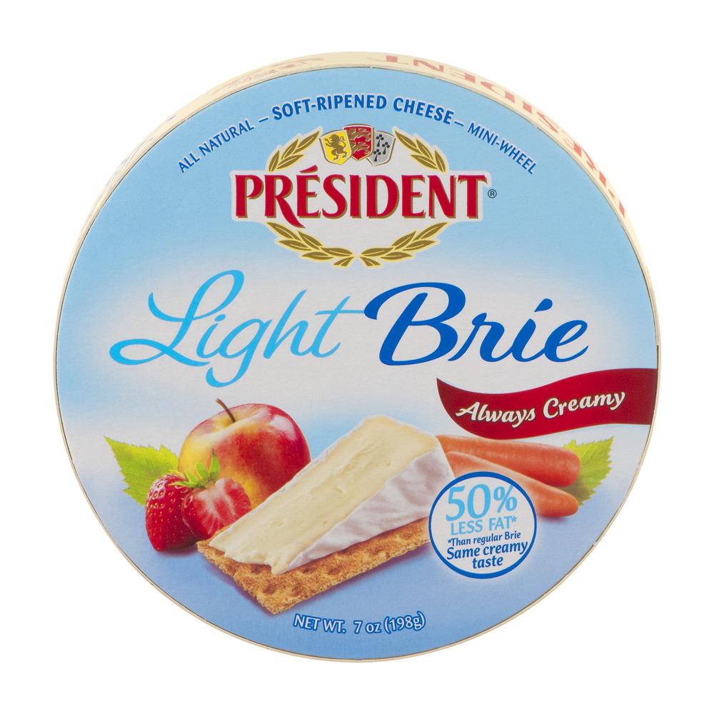 President Light Brie Soft-Ripened Cheese Mini-Wheel, 7.0 OZ