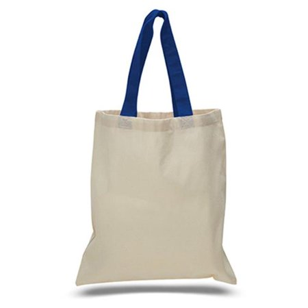 15 x 16 in. Natural Cotton Canvas Tote Bag with Contrasting Royal, Royal - Pack of 240 - image 1 de 1