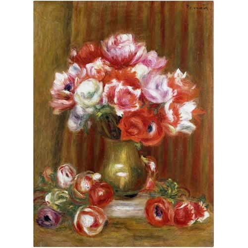 "Trademark Fine Art ""Anemones"" 1909 Canvas Art by Pierre-Auguste Renoir"