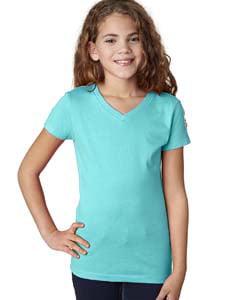 Next Level Apparel 3740 Girls Princess V-Neck T-Shirt