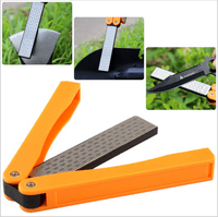 5inch Double Sided 400/600 Grit Folding Pocket Diamond Knife Sharpener Sharpening Whetstone Sharpener
