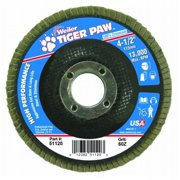 Weiler 804-51120 Type 29 Tiger Paw Angled Flap Discs, 4. 5 inch, 60 Grit, 13,000 Rpm