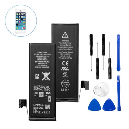 Insten 3.8V 1440mAh Li-ion Internal Replacement Battery kit for Apple iPhone 5 (with Replace Parts Repair Tool Kit Included) (Battery For Iphone 4 Model A1349)