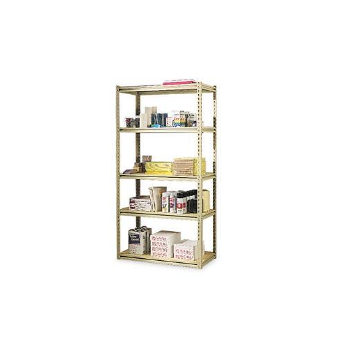 Stur-D-Stor Shelving, 5 Shelves, 36w x 18-1/2d x 72h, Sand