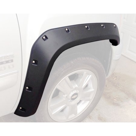 2007-2013 Chevrolet Silverado Pocket / Rivet Style Fender Flares (Standard Bed (6