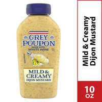 Grey Poupon Mild & Creamy Dijon Mustard, 10 oz Squeeze Bottle