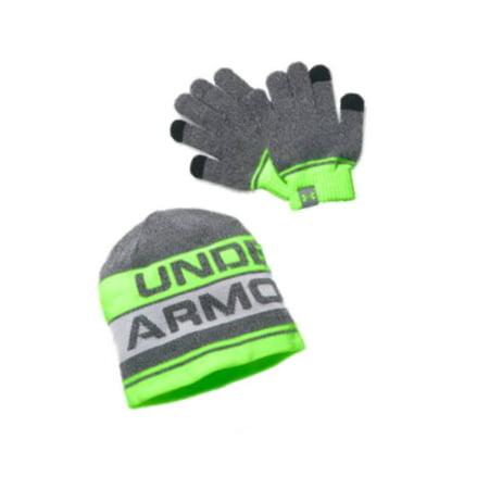 Under Armour - Under Armour Boys Neon Green Winter Hat   Gloves Beanie Set  - Walmart.com eef00210c24
