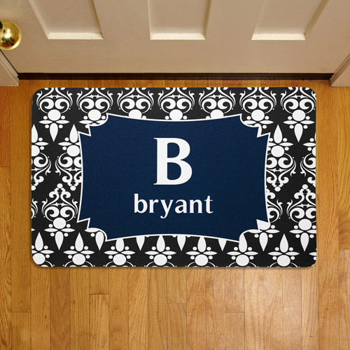 "Personalized Name and Initial 17"" x 27"" Doormat"