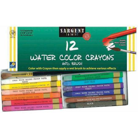 Watercolor Crayon - Sargent Art Watercolor Crayons Set, Assorted Colors, Set of 12