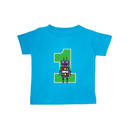 1st Birthday Robot Boys Robotics Baby T Shirt
