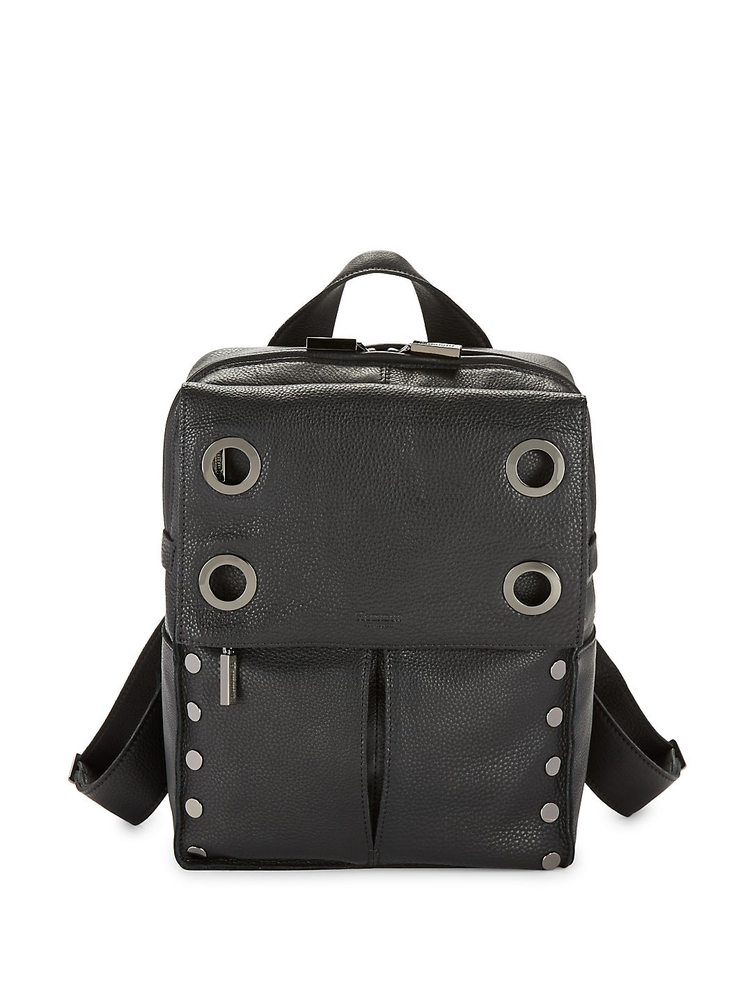 Grommet Pebbled leather Backpack
