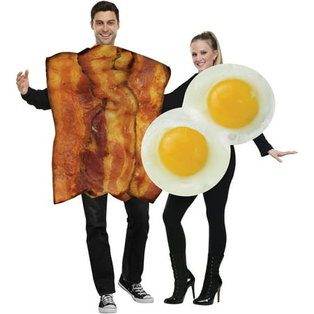 Egg Halloween Costume (Bacon and Eggs Unisex Adult Halloween)