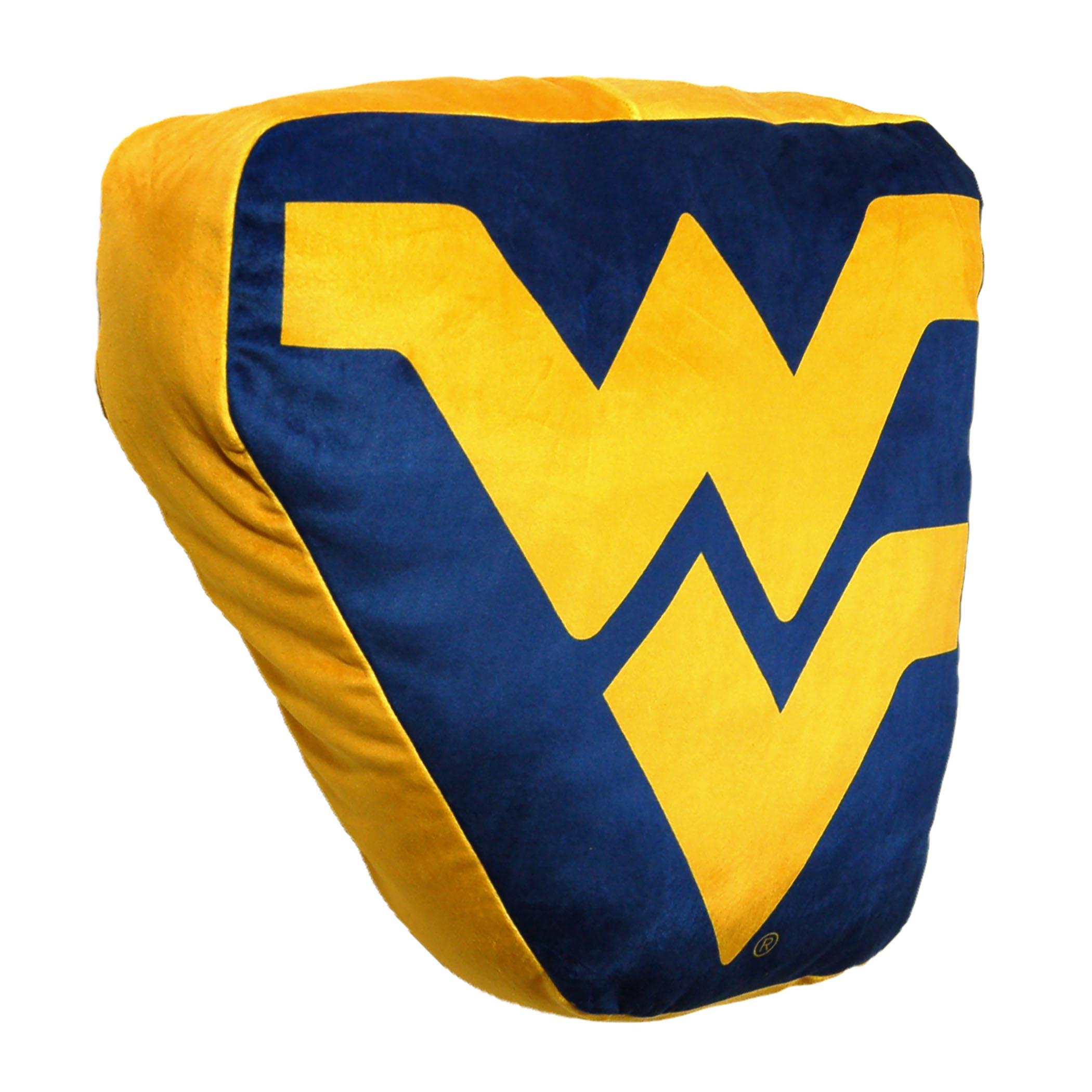 "NCAA - West Virginia Mountaineers , 15""x 2"" 3D Ultra Stretch Travel Cloud Pillow"