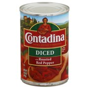 Contadina Diced with Roasted Red Pepper Tomatoes 14.5 oz. Can