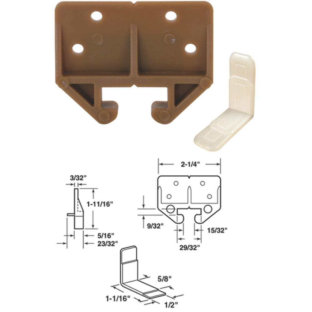 """7/8"""" Brown Drawer Track Guide, Prime Line, 22315"""