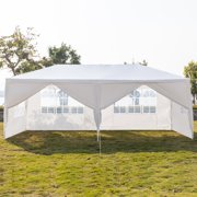 Clearance! Canopy Tents for Outside, Canopy Tent for Party Wedding, 10' x20' Outdoor Canopy Tent w/6 Removable Sidewalls, Two Doors Heavy Duty Party Wedding Party Tent, White, S10474