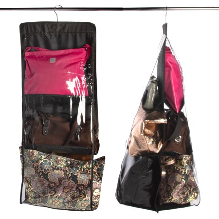 Evelots (2 Pack) Hanging Handbag Purse Organizer Storage & Protection For Clothing Shoes See - Wholesale Handbags Shoes