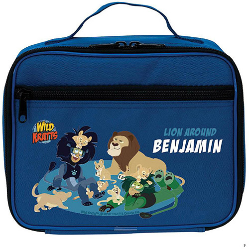 Personalized Wild Kratts Lion Around Blue Kids Lunch Box