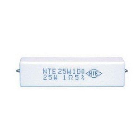 NTE Electronics 25W1D0 1 Ohms 25 Watt Wirewound Resistor 2 Pack