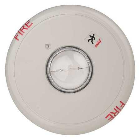 EDWARDS SIGNALING EGCF-VM Ceiling Strobe, Marked Fire, White