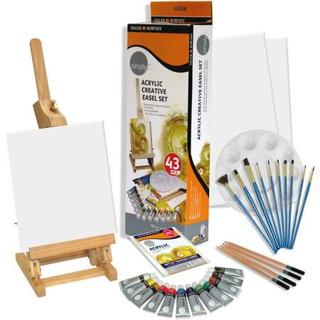 Daler-Rowney Simply Acrylic Creative Easel Set, 1 Each Daler Rowney Mount Board