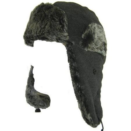 c13b326427f Klondike Sterling Poly Fleece Bomber Ear Flap Trooper Hat 9HF622 -  Walmart.com