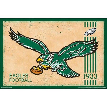 Philadelphia Eagles Retro Throwback Logo Nfl Football Sports Poster 34x22