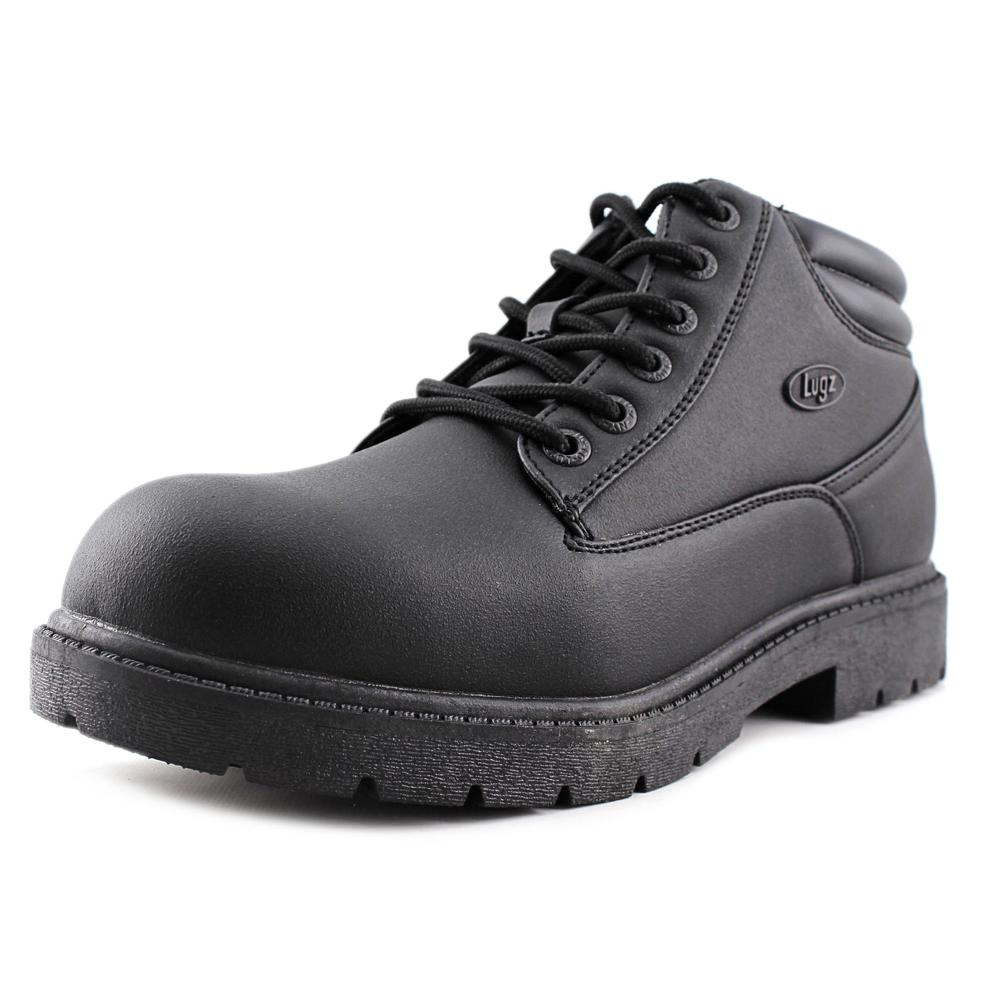 Lugz Monster Mid Men Round Toe Synthetic Black Work Boot by Lugz