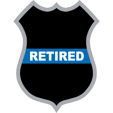 8 Inch Thin Blue Line Retired Police Badge Decal