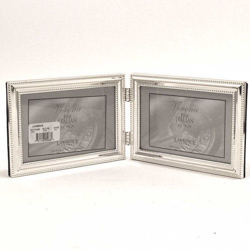 Lawrence Frames Beading Hinged Double Horizontal Picture Frame