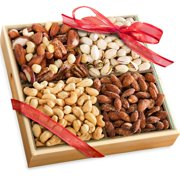 Golden State Fruit Savory Favorites Assorted Nuts Christmas Gift Tray