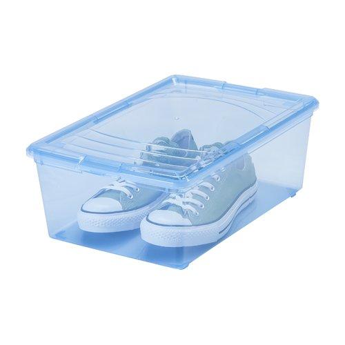 iris usa inc 13 5 quart mens shoe storage box set of 16