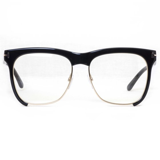 3e64aea1a829 Tom Ford - Tom Ford TF 366 001 Shiny Black Gold Frames Square ...