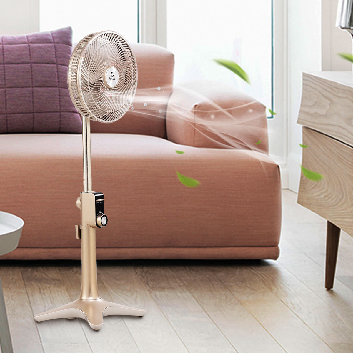 10'' Pedestal Fan 7 Blades 24-Speed 3 Mode Height Adjustable Remote Control - image 9 of 10