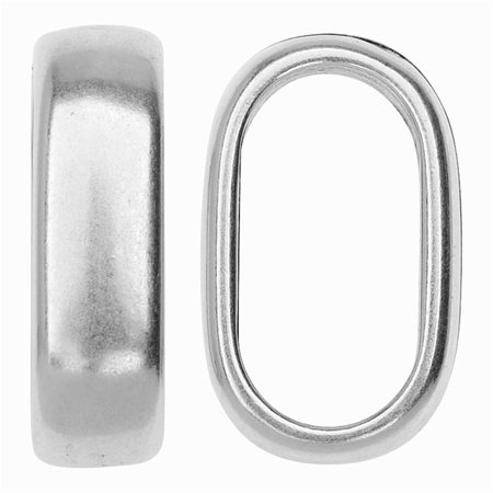 Climbing Rope Findings, Double Cord Spacer Bead 14x23mm, 1 Piece, Antiqued Silver