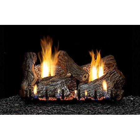 "White Mountain Sassafras Vent Free 24"" Gas logs Millivolt with On/Off switch - Propane"