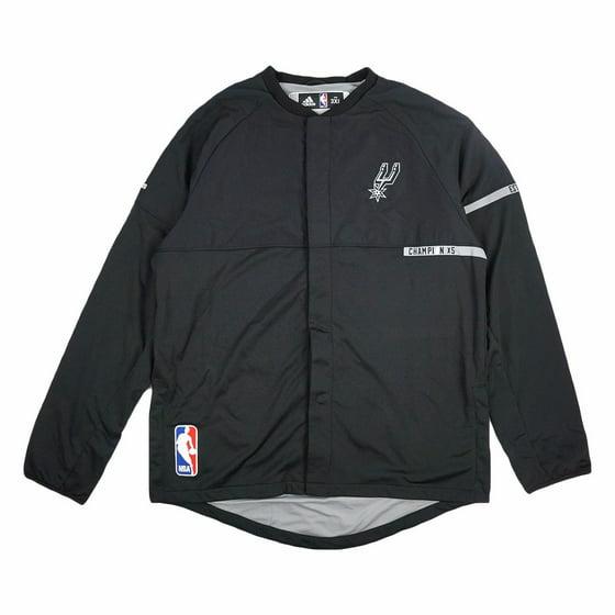 9fbe95952 adidas - San Antonio Spurs NBA Adidas Black 2016-17 Authentic On ...