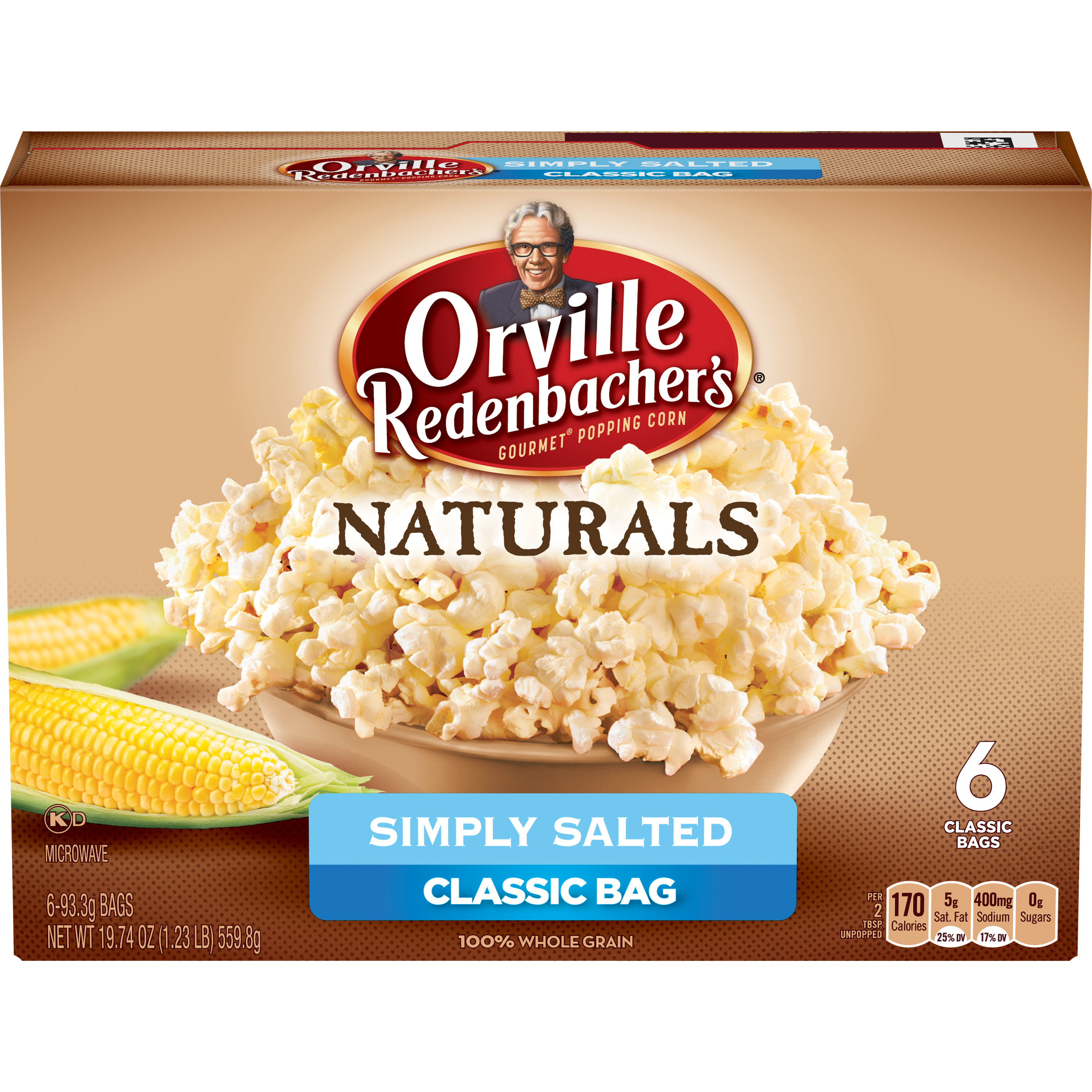 Orville Redenbacher's Natural Simply Salted Microwave Popcorn, 6 pk