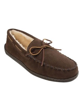 Minnetonka Men's Pile Lined Hardsole Moccasin