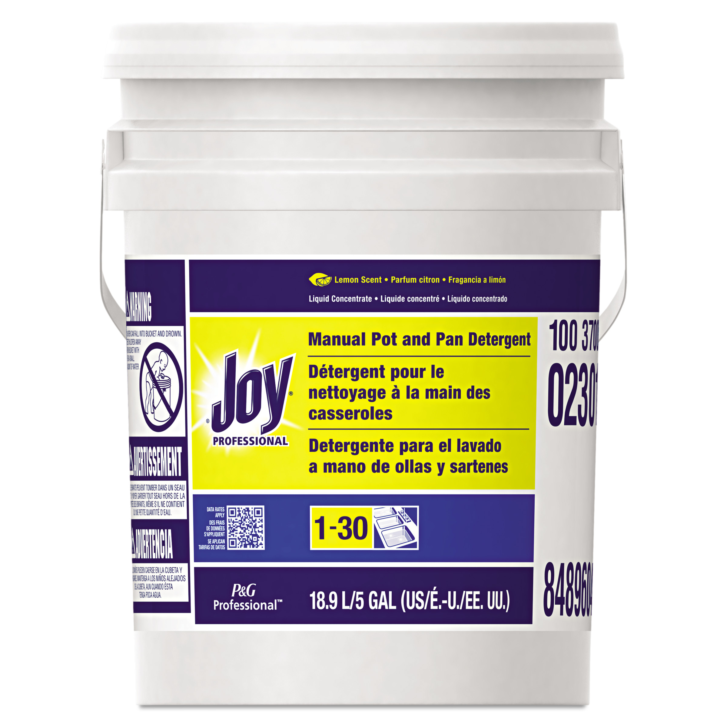 Joy Dishwashing Liquid, Lemon, Five Gallon Pail - PGC02301