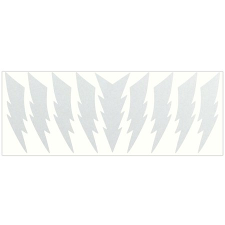 LiteMark Reflective Stickers - 4 Inch Lightning Bolts - White