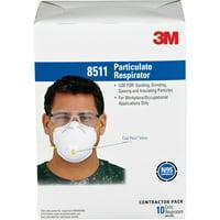 3M Particulate Respirator 8511, N95, 10EA/BX