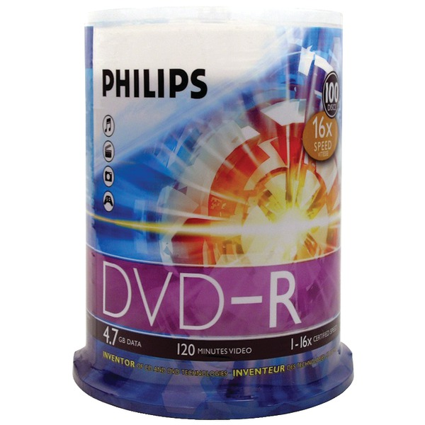 Brand New 4.7GB DVD-R 100CT SPINDLE