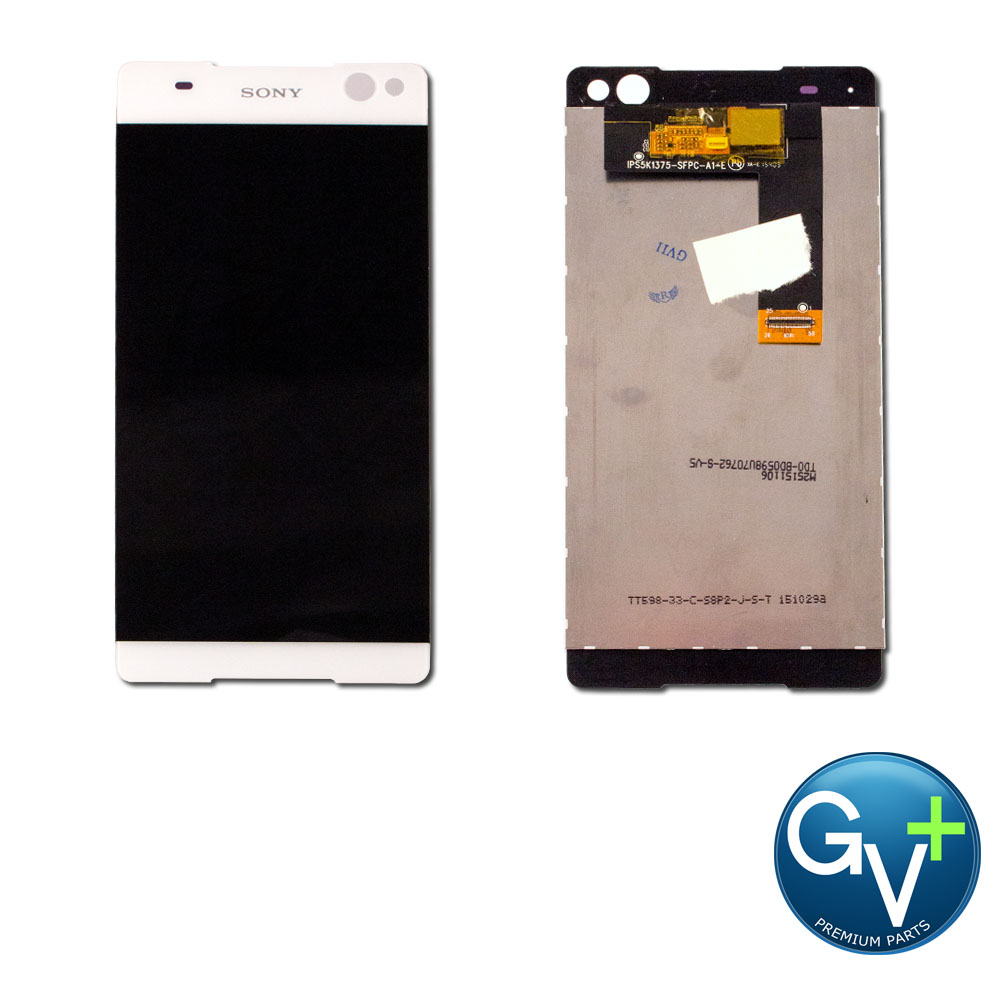 OEM Touch Screen Digitizer and LCD for Sony Xperia C5 Ultra - White (E5553, E5506)