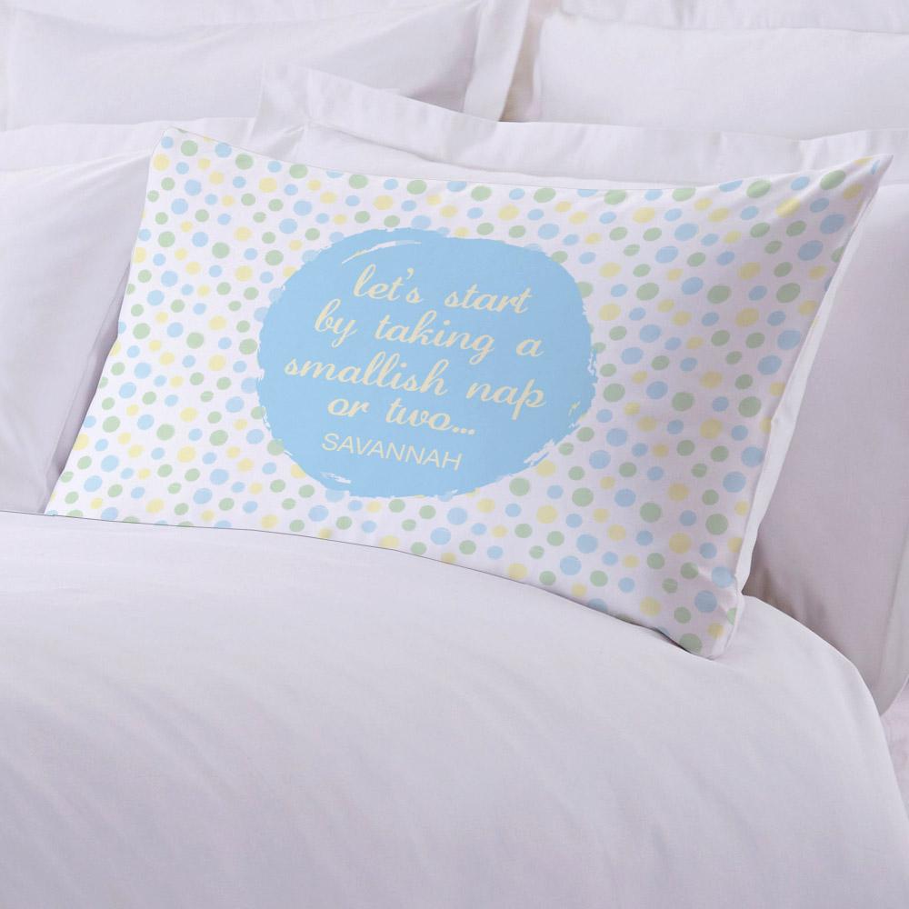 Personalized Nap Time Standard Pillowcase