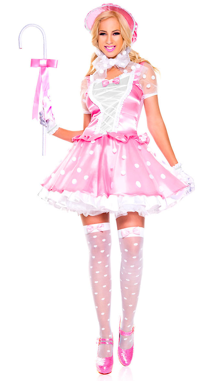New Music Legs 70765 Miss Little Bo Peep Costume