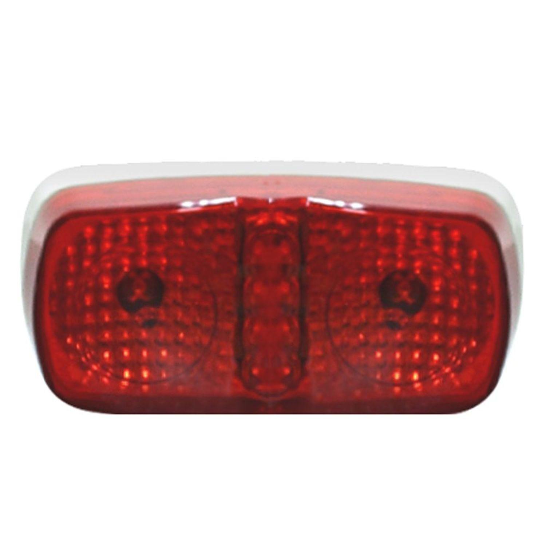Pilot Automotive NV-5056R 12 Volt 4 inch Dual LED Side Marker / Reflector-Red Size: 4 x 1-1/8  x 2