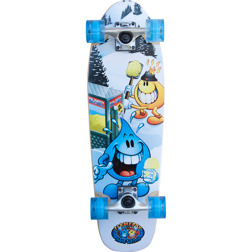 Flameboy/Wet Willy Cruiser Series Skateboard, Yellow Snow