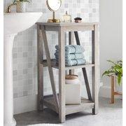 Better Homes & Gardens Modern Farmhouse Bathroom Floor Cabinet, Rustic Gray Finish